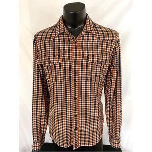 Scotch Soda Button Up Flannel Orange Reg XL